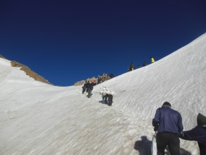 Climbing up to the Lipu Pass