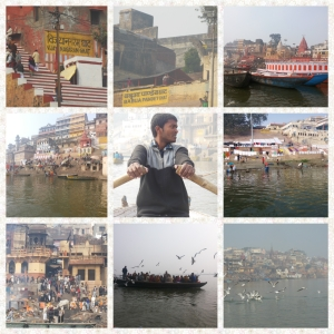 The Boat ride on the Ganges and the Ghats