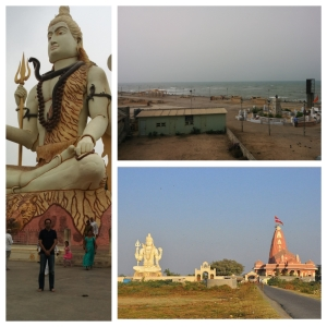 Dwarka Beach front and the Nageshwar Jyotirling