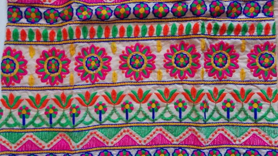 Jetpur Dress fabric design