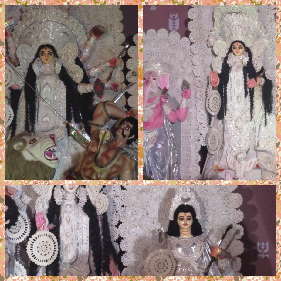 A closer look at the idols of Durga, Ganesh, Saraswati, Lakshmi and Kartikeya