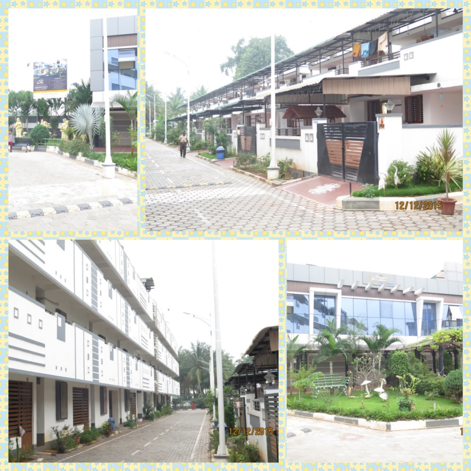 Retirement community with rows of Apartments and Villas