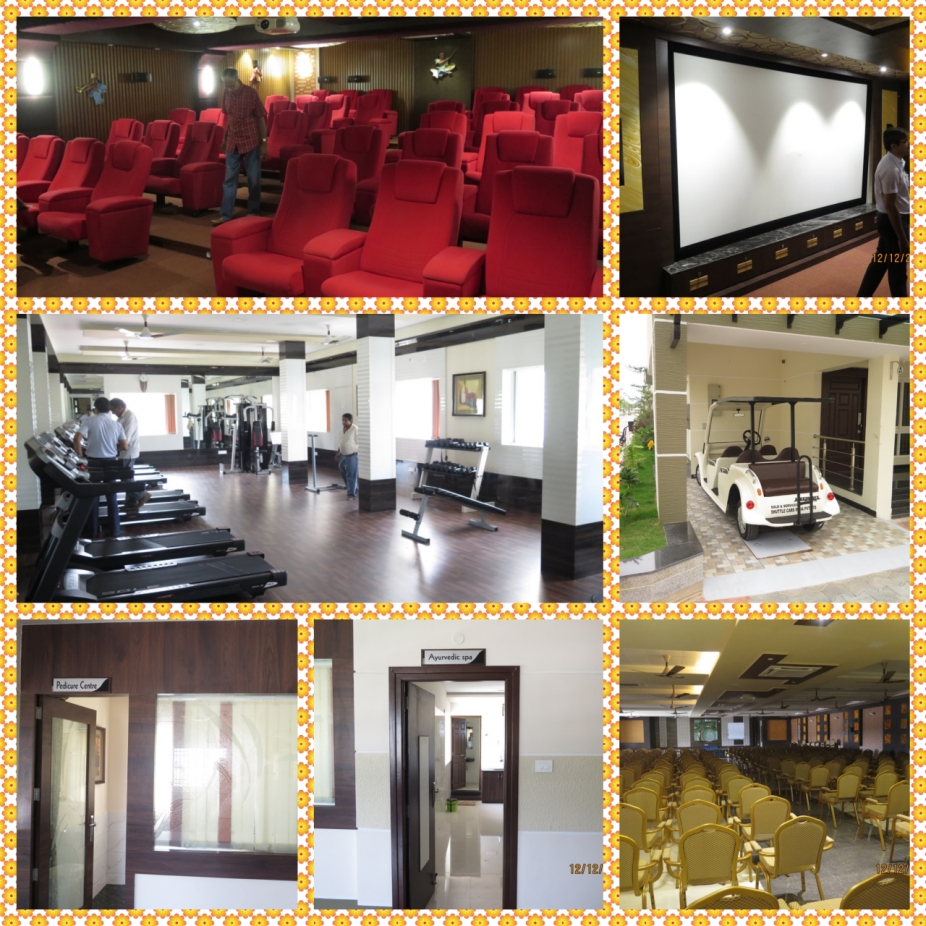 The luxury Theatre, Modern Gym, Meditation Hall and a Buggy to get around