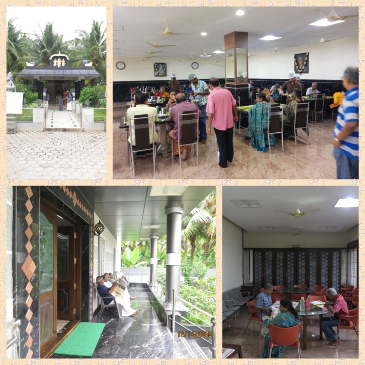Residents Dining room, Temple, NewsPaper reading zone and Library Zone