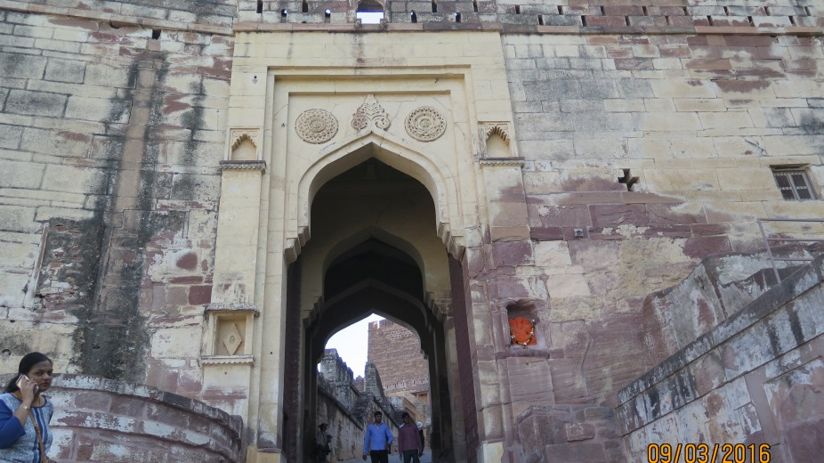 Entrance to the Mehrangarh Fort