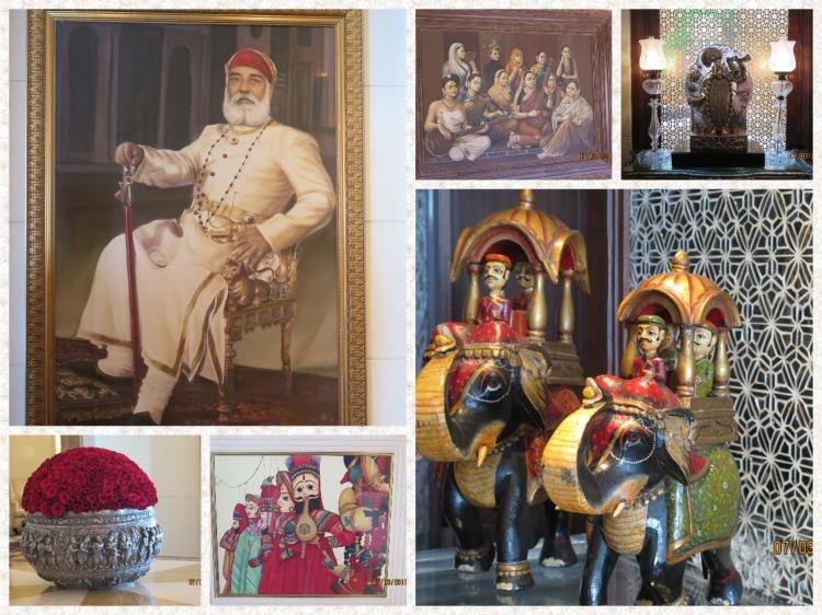 Portrait of Arvind Singh Mewar, A Ravi Varma, Shrinathji, Floral arrangement, Rajasthani Artwork and Wooden toys of Udaipur
