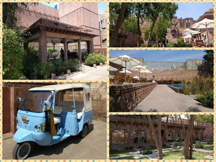 Luxurious RaasHaveli, Swimming Pool, A Rickshaw and views of the fort