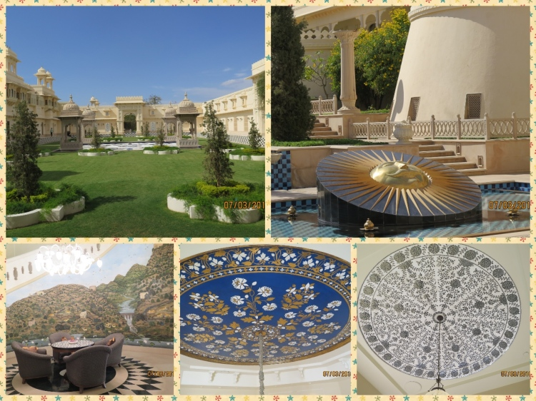 The Palace hotel lawns, lobby and eye catching ceilings