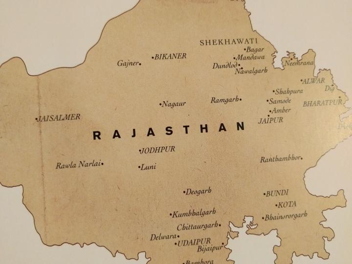 Map of Rajasthan