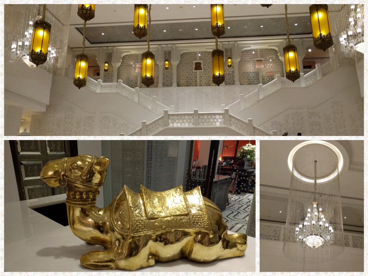 The Lobby, Chandeleirs and a Golden Camel