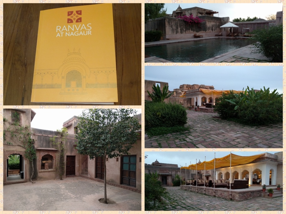 Ranvas Welcome card, Swimming pool, Courtyard and the reception area