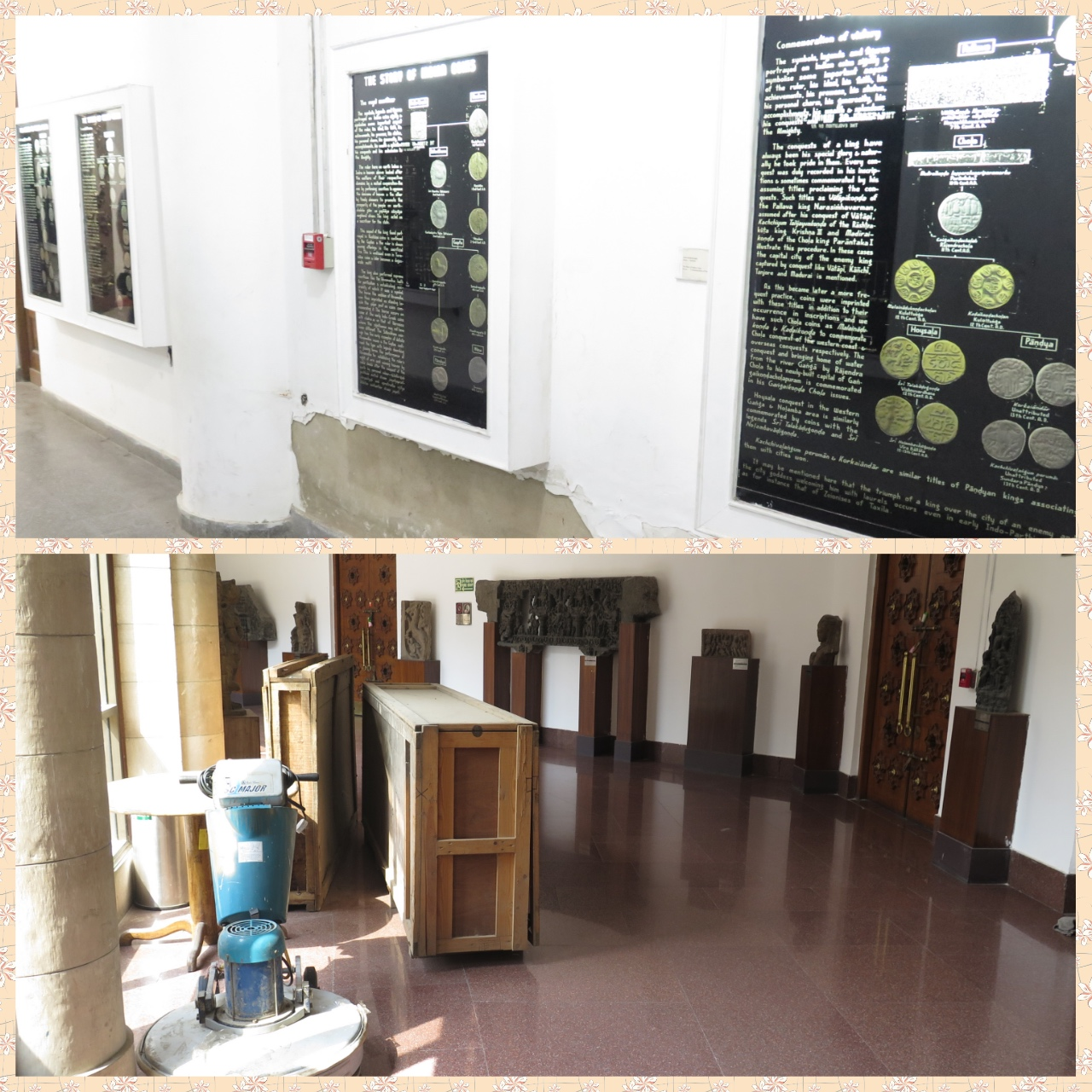 The Coinage gallery which one just breezes past for lack of interactivity. Cluttered Museum floor impeding smooth movement of Visitors