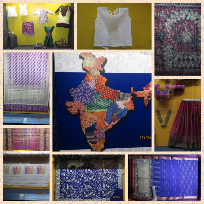 A textile map of India, Prints of various states of India, Child dresses, Parsee Saree