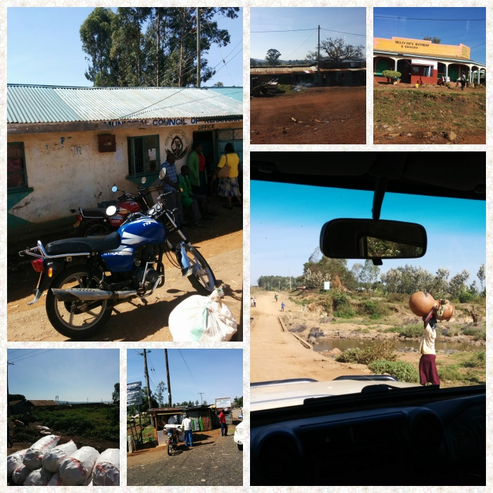 A municipal council office near Isabania, Coal sacks, finished earthen pots and butcheries