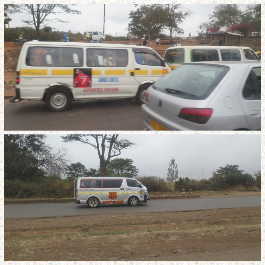 Matatus mini bus in Kenya