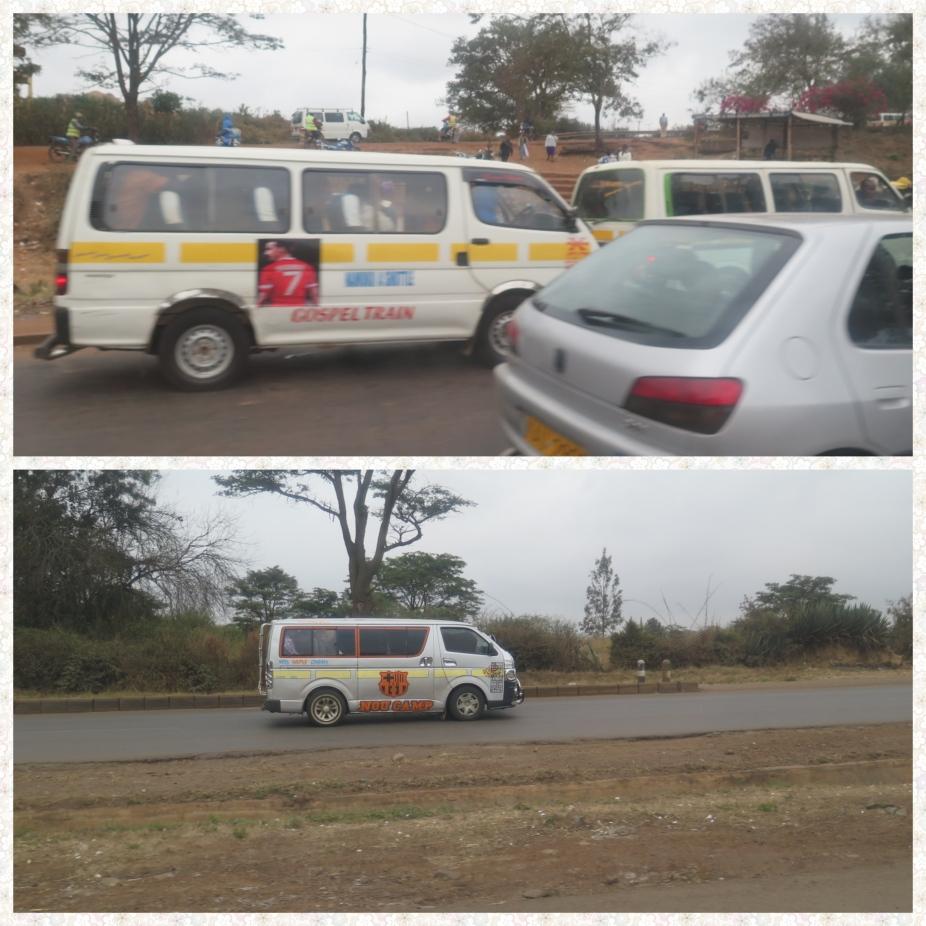 Matatus mini bus in Kenya