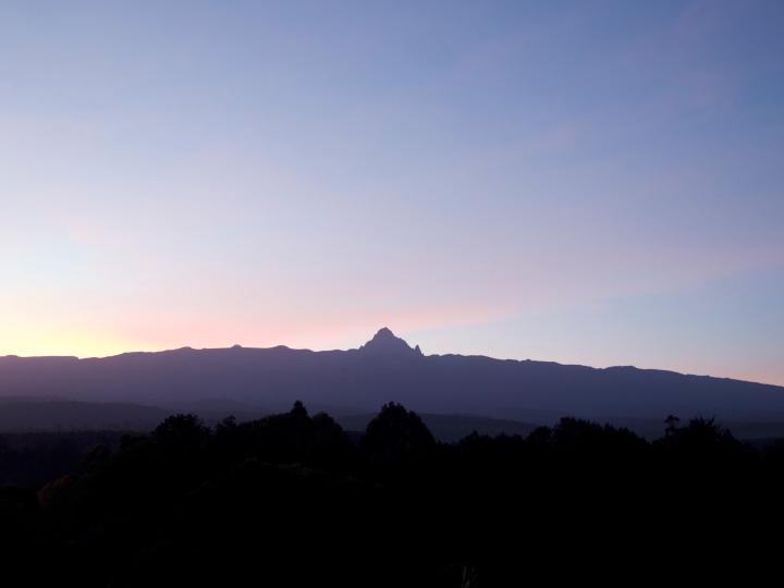 Mt Kenya during Sunrise