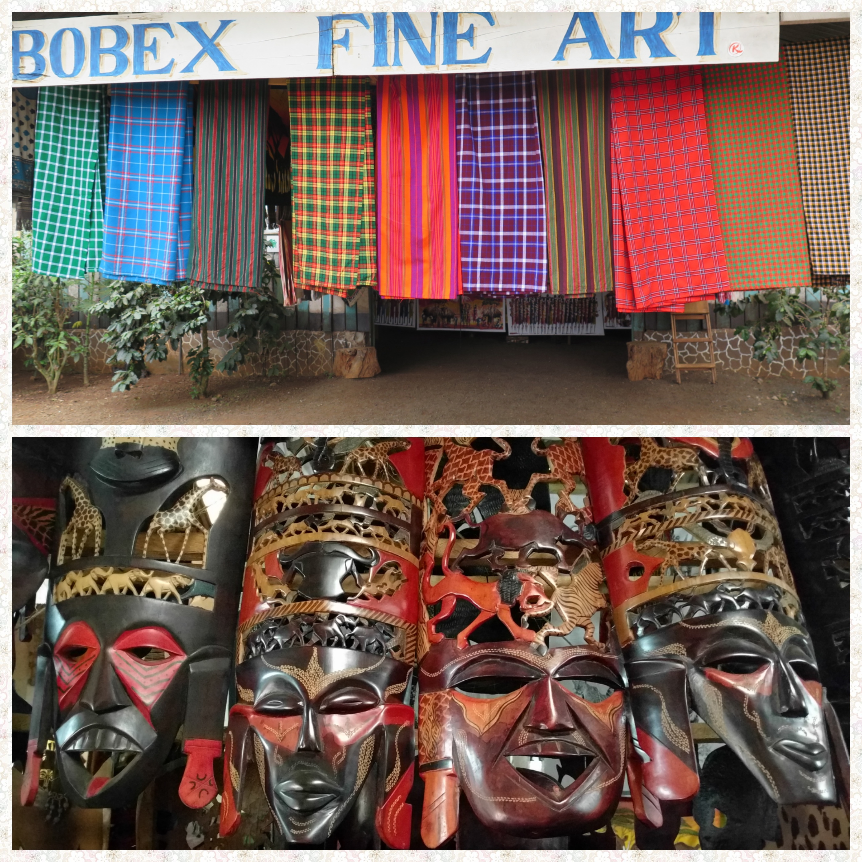 Shukas and Masks on highway curio shops