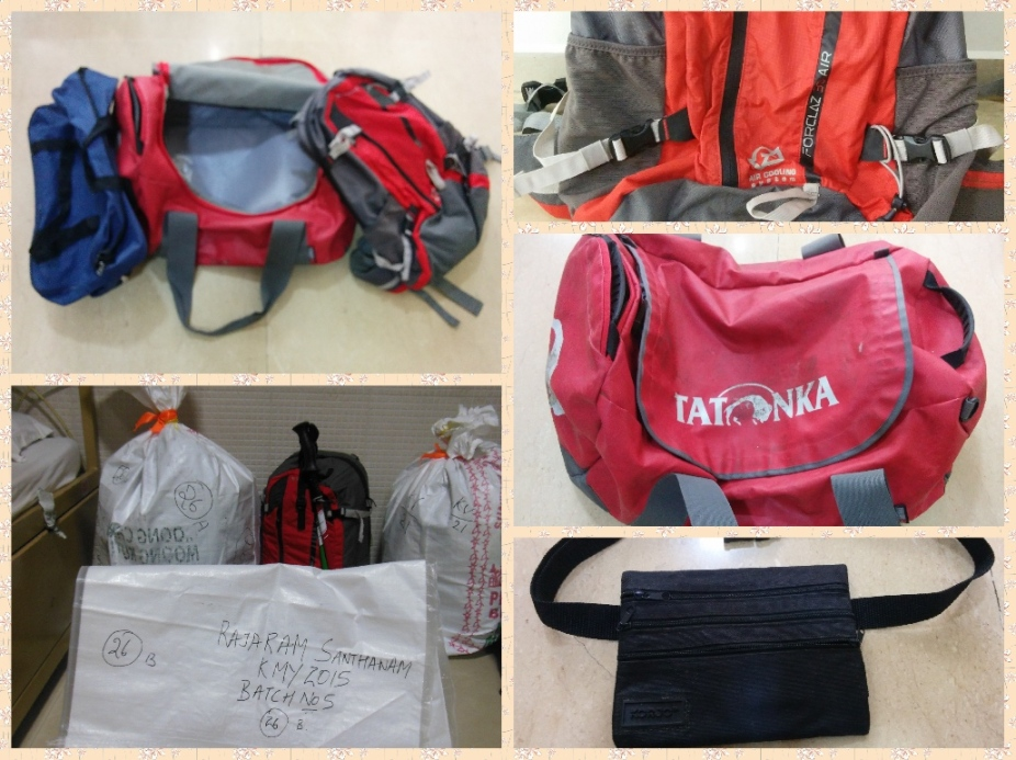 Bags and packing for Kailash