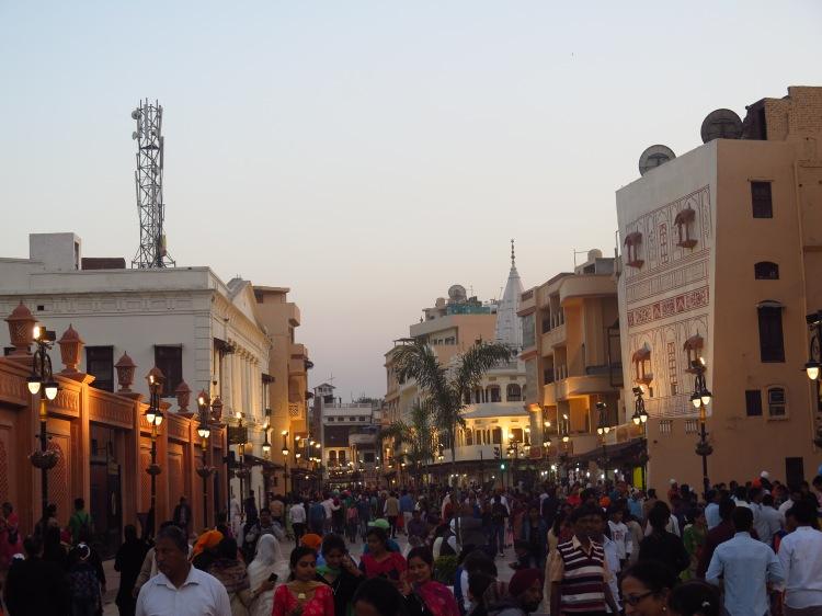 Heritage street at twilight