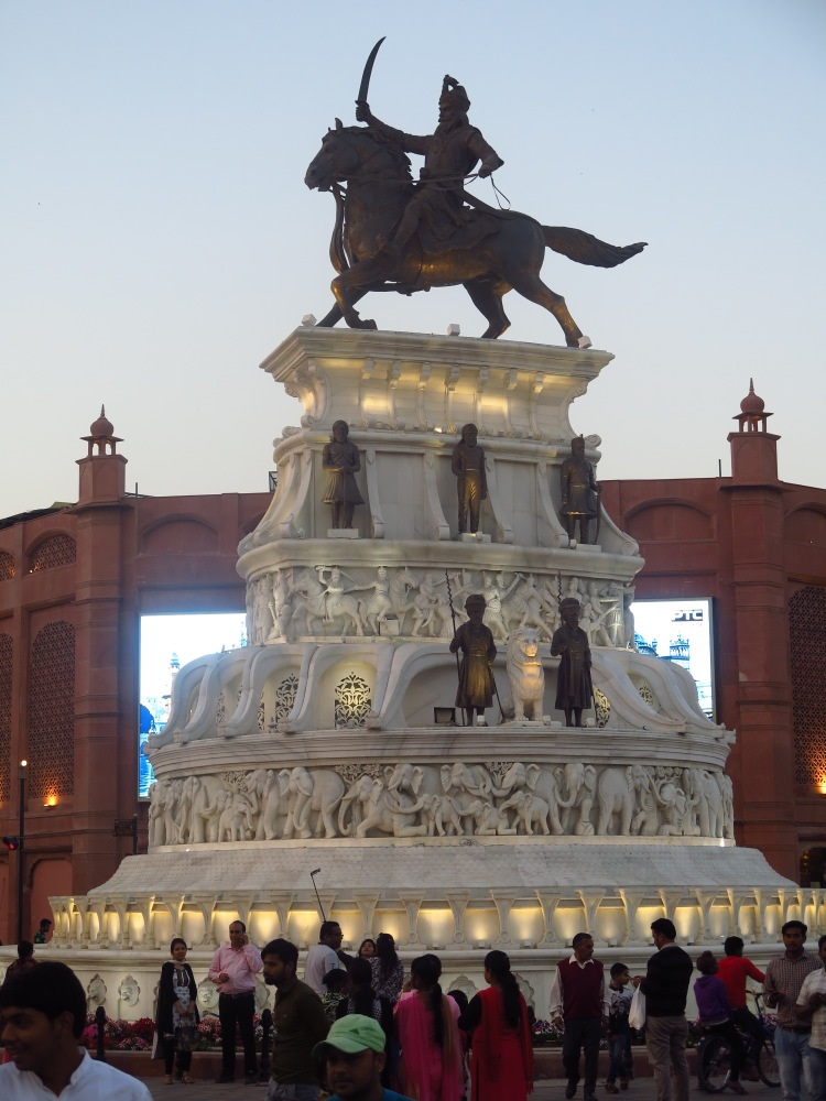 Statue of Maharaja Ranjit Singh ji at the junction of Heritage street and Town Hall road
