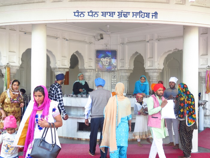 The water distribution center at Darbar Sahib for Devotees and visitors