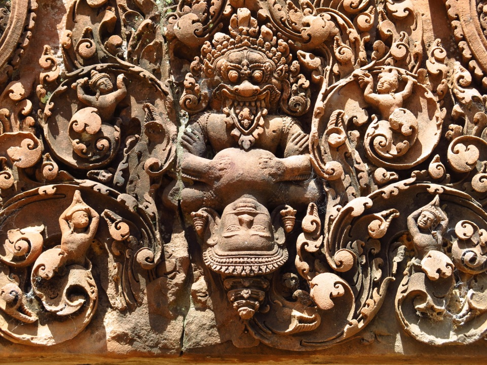 Narasimha the lion faced avatar of Vishnu killing Hiranyakashipu