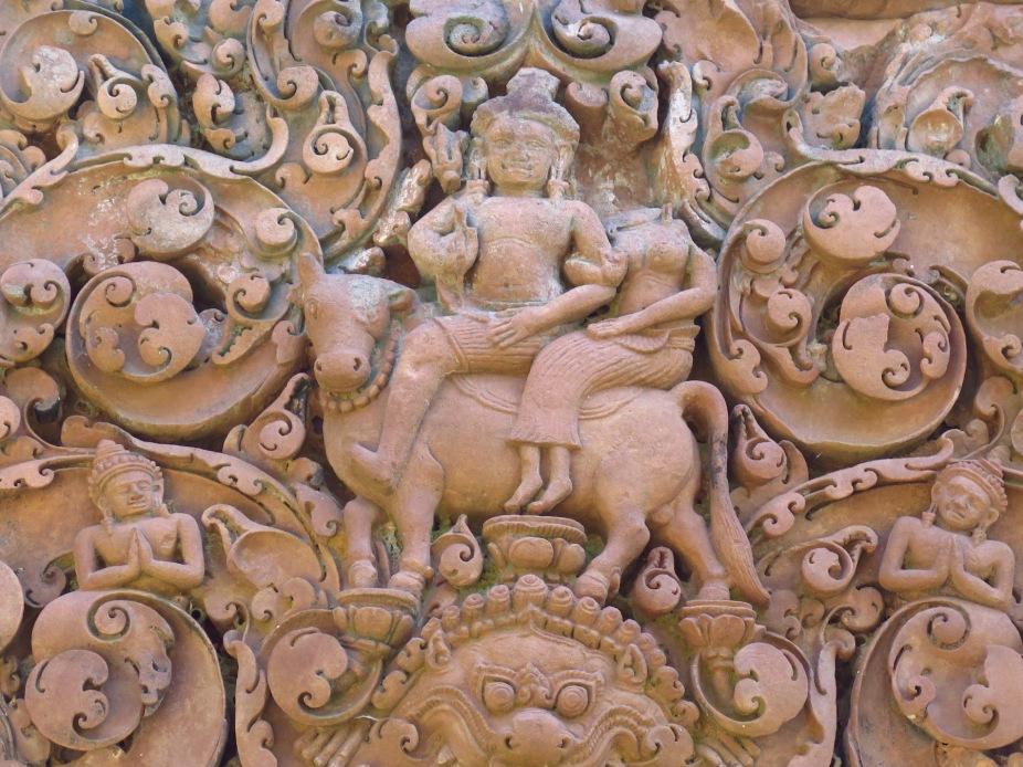 Lord Siva with his consort Parvati on his faithful Nandi