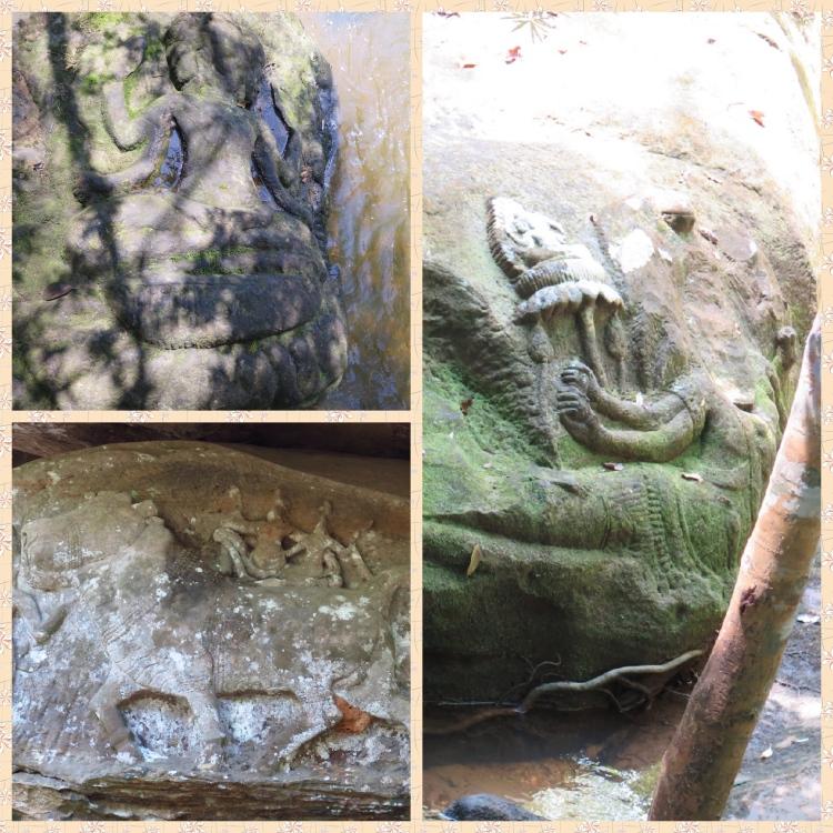 Images of Brahma, Vishnu and Siva