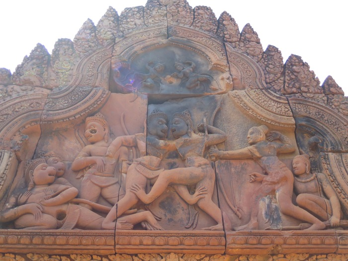Rama, Lakshmana, Vali and Sugreeva with other Va-Naras