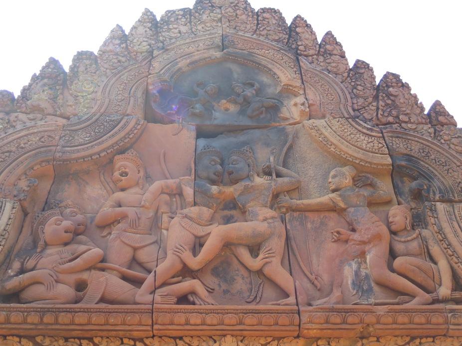 Rama, Lakshmana, Vali and Sugreeva with other Va-Naras