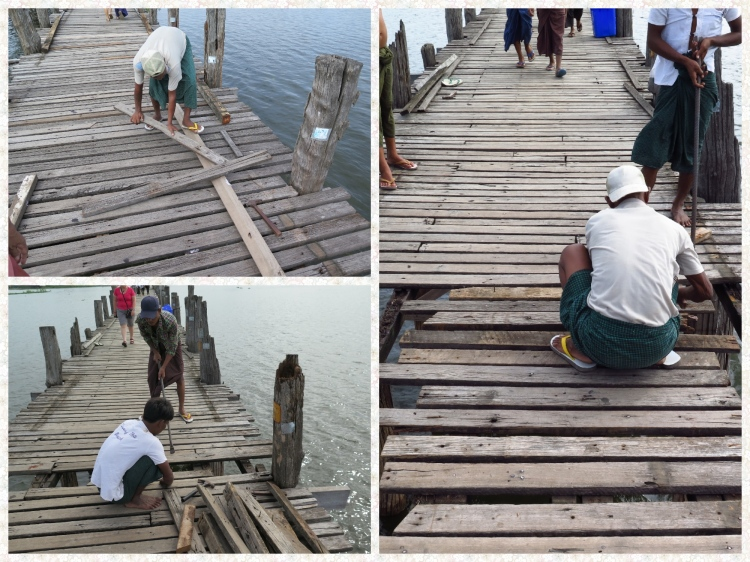 Conservation works are regularly carried out on the bridge by replacing the wooden sleepers. All efforts are afoot to keep this Heritage structure the way it was built.