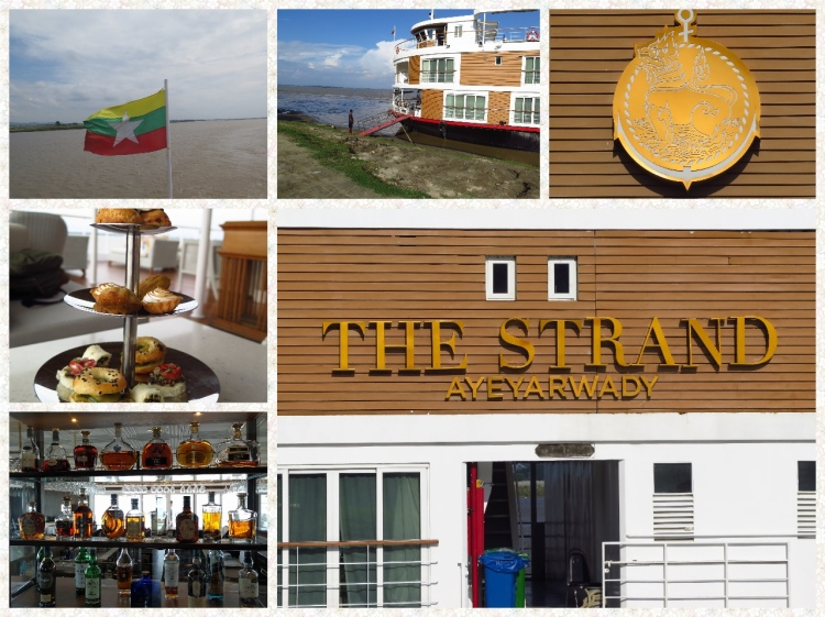 The Strand Luxury Cruise boat on the Ayeyarwady complete with luxury cabins, great food, wines and the best of Asian hospitality