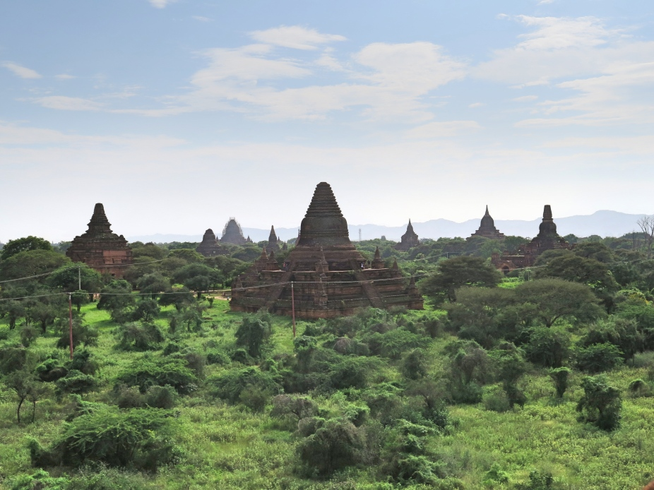 The landscape of Bagan as viewed from the terrace of Htiliminlo temple is breathtaking. This scenery needs to be viewed at different times of the day to experience what was once the Cultural capital of Myanmar
