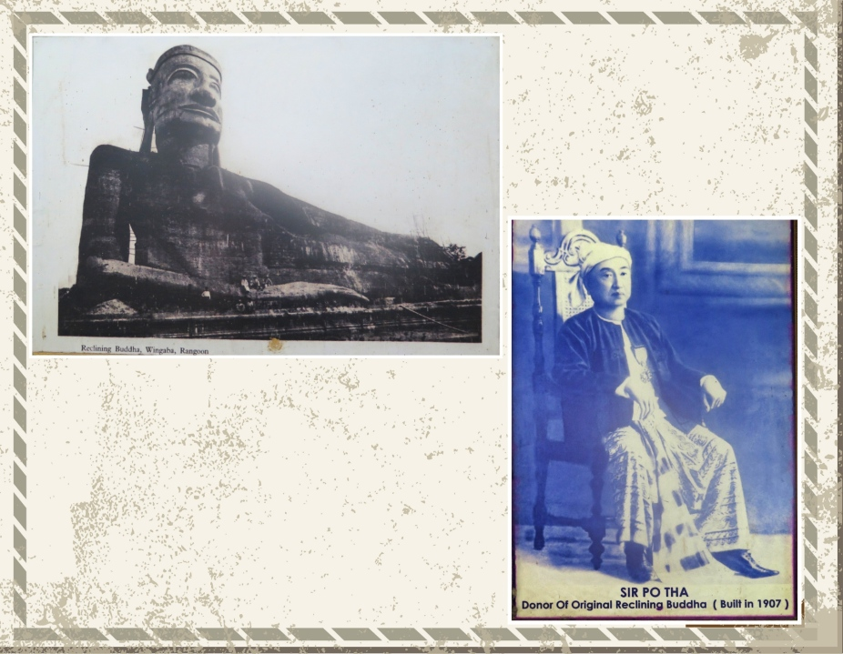 The original Reclining buddha and image of Sir Po Tha
