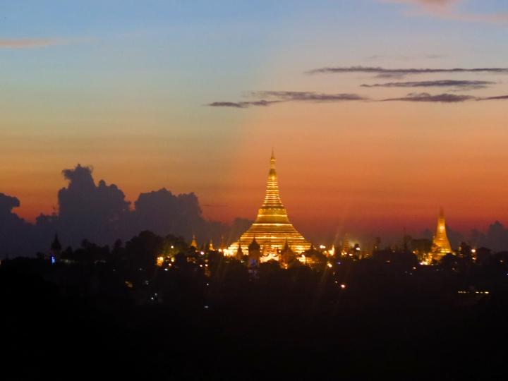 The Shwedagon Pagoda at Twilight
