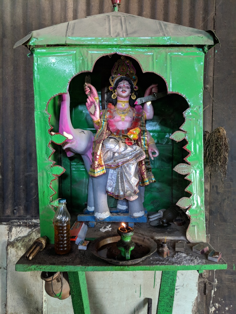 Lord Vishwakarma is the resident deity of the Mustard Oil Mill