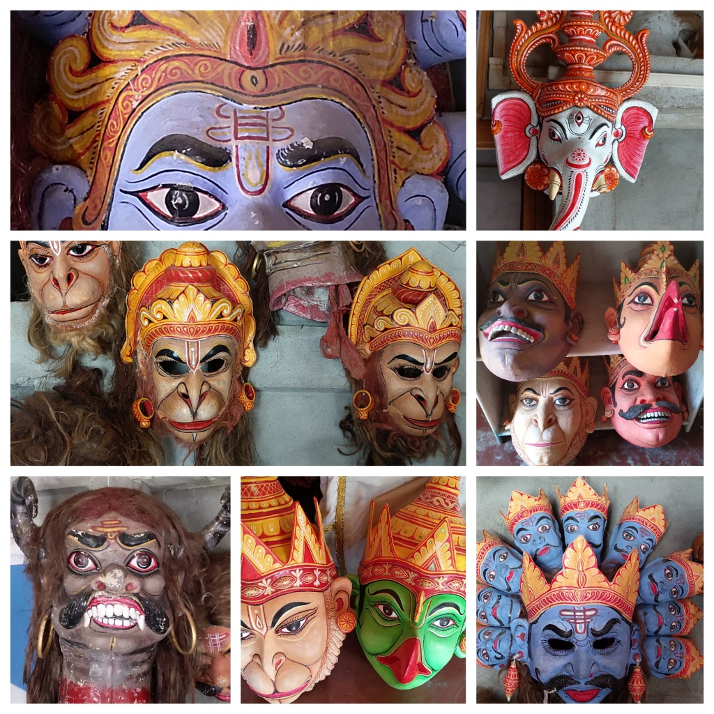 Masks at Samaguri Satra