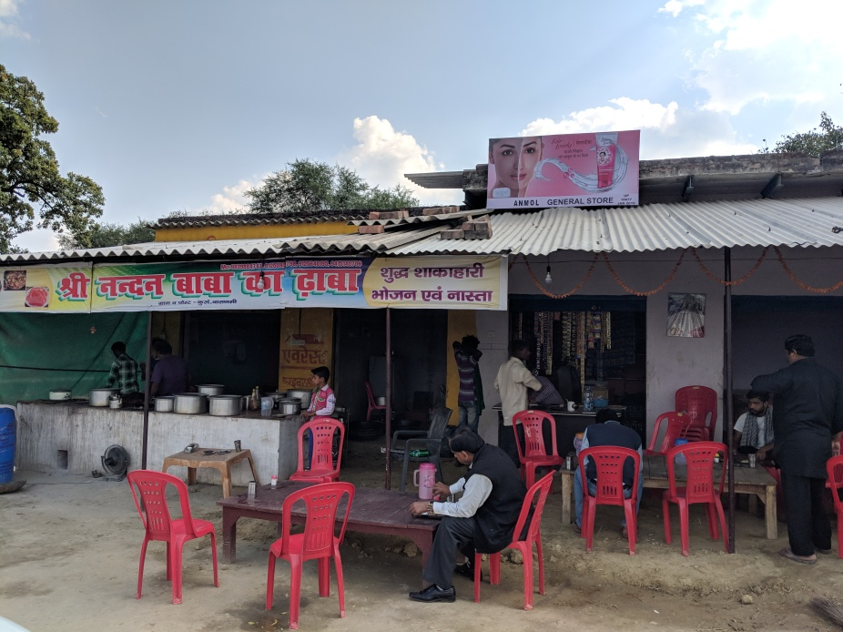 A Dhaba and seating space