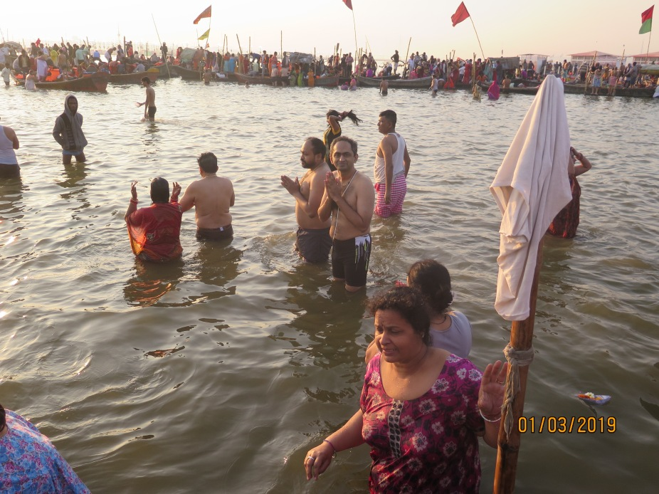 The Kumbh Sangam or confluence