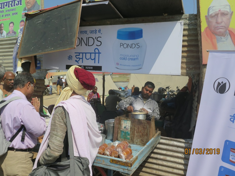 Tea stall with ponds branding