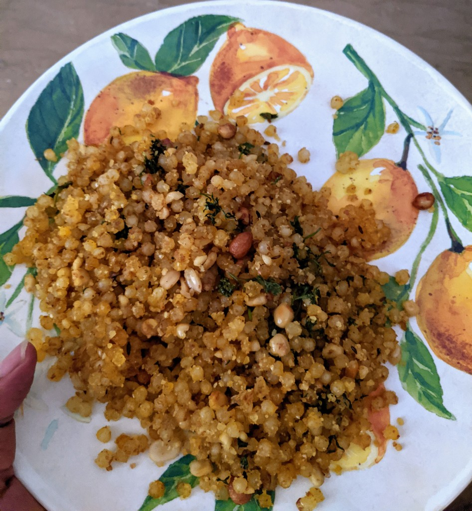 Sabudana khichdi on Friday morning